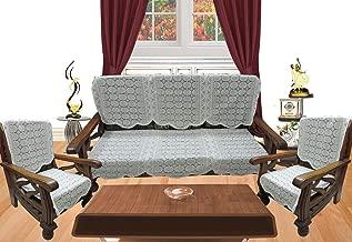 Topaz Furnishings Polycotton Unique Design Sofa Covers, Set of 6, Cream