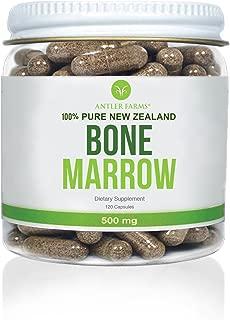 Antler Farms - 100% Pure New Zealand Bone Marrow, 120 Capsules, 500mg - Grass Fed, Pasture Raised, Cold Processed, Stem Cell Supplement, Keto Friendly, NO Hormones, NO Antibiotics, NO GMOs