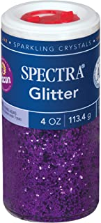 Pacon Spectra Glitter Sparkling Crystals, Purple, 4-Ounce Jar (91630)
