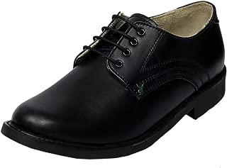 Playboy PB 2501 Leather Formal & School Shoe for Boys-5 Black