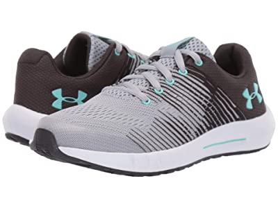 Under Armour Kids UA GPS Pursuit NG (Little Kid) (Gray/Mermaid) Girls Shoes