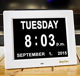 DayClox – The Original Memory Loss Digital Calendar Day Clock with Extra Large Non-Abbreviated Day & Month. Perfect for Se...