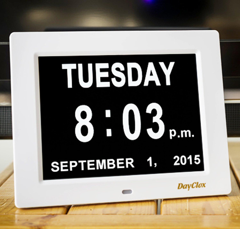 DayClox Original Digital Calendar Non Abbreviated