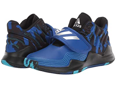 adidas Kids Deep Threat Basketball (Big Kid) (Team Royal Blue/Core Black/Collegiate Navy) Kids Shoes