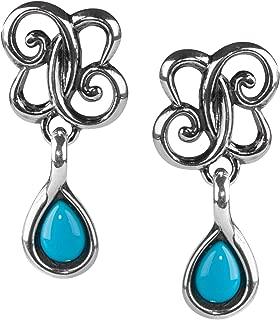 Carolyn Pollack Sterling Silver & Sleeping Beauty Turquoise Drop Earrings