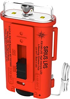 Lifesaving Systems Corp Sirius Long Range LED Strobe Light - USCG Approved Signaling Strobe - Does NOT Replace Flares, Exceeds Solas Requirements - Made in USA
