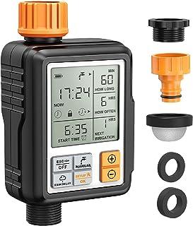 "Homitt Programmable Water Timer,3"" Large Screen/IP65 Waterproof/Child Lock.."