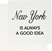 3dRose Set of 12 Greeting Cards, New York is Always a Good Idea (gc_163815_2)