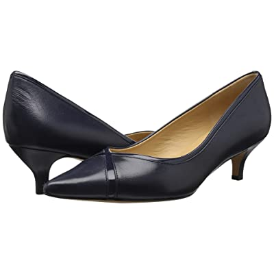 Trotters Kelsey (Navy Glazed Kid Leather/Patent Man Made) Women