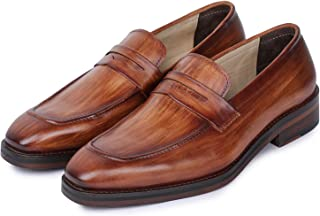 Men's Handcrafted Genuine Leather Penny Slip-On Leather Lined Loafer