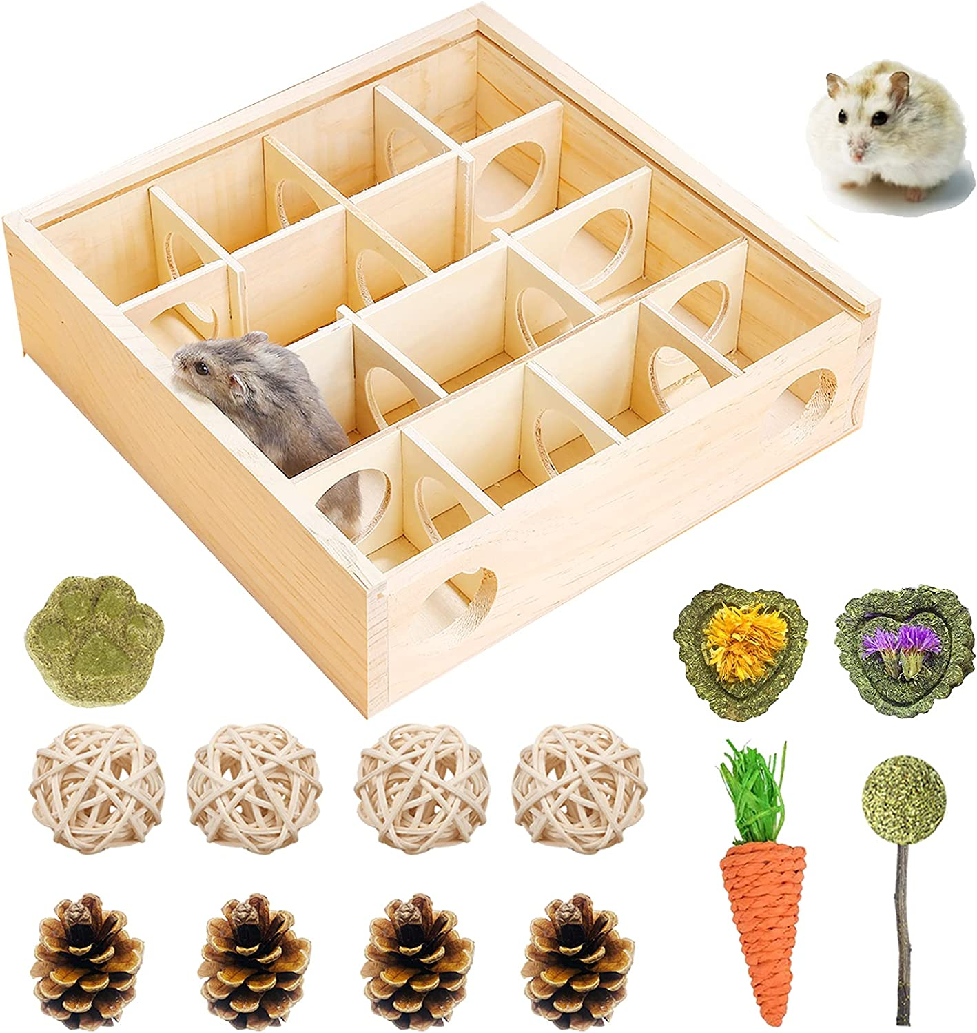 Hamster cheap Wooden Maze Tunnel with New sales Cover Plastic Ch and Transparent