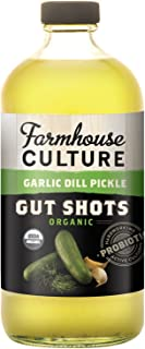 Farmhouse Culture Gut Shot, Garlic Dill Pickle, 16 Ounce (pack Of 06)
