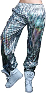 Night Club Metallic Hologram Shiny Pants Party Trousers