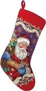 Peking Handicraft 31SJM4512MC Christmas Santa Needlepoint Stocking, 11x18