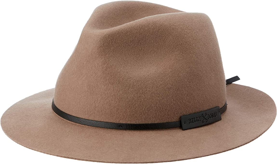 Billy Bones Club Men's Old Pine Fedora Felt Wool Brown