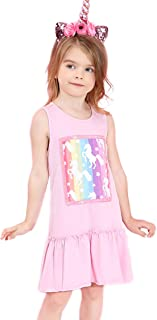 Liliane Girls Unicorn Dresses Summer