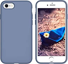 YINLAI iPhone 8 Case Slim, iPhone 7 Case Light Grey,Shockproof Drop Protection Full Protective Soft Silicone Rubber Cover Smooth Back Anti-Slip Grip Bumper Girls Women Phone Covers for iPhone 8/7,Gray