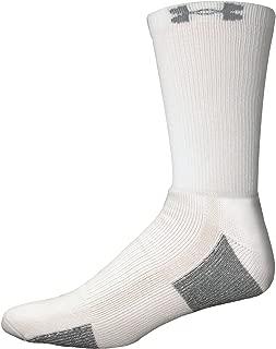 4-pcs heatgear Crew Socks, WHITE, LG, 9-12.5