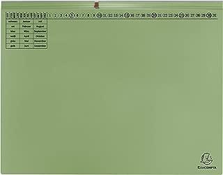 Exacompta Foolscap Suspension File Exaflex Premium 2Filing Linksheftung grün