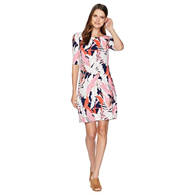 Tommy Bahama Lily Leaf Toss 3/4 Sleeve Dress (Pink Confetti) Women
