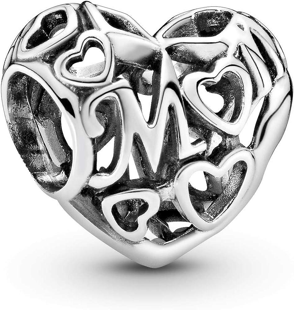 Pandora, charm,ciondolo da donna loving mom, aperto, in argento 925 791519