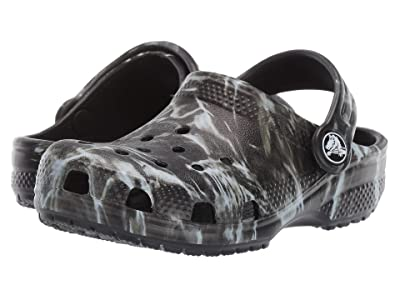 Crocs Kids Classic Mossy Oak Elements Clog (Toddler/Little Kid/Big Kid) (Black) Kid