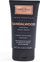 Caswell-Massey Sandalwood Soothing Shave Cream – All Natural Shaving Cream Made In USA - 4 Ounces