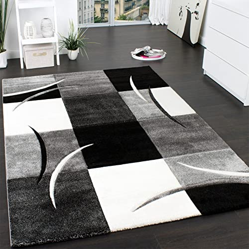Caucasian Rugs Uk: Black And White Rugs For Living Rooms: Amazon.co.uk