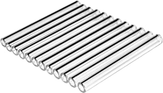 Geeaoo Glass Tubing, 12 Pack of 12 inch Borosilicate Glass Tube, Clear Tube, Glass Blowing Tube for School Factory Laboratory, Length of 300mm, Diameter of 8mm, 1.1mm Thick Wall