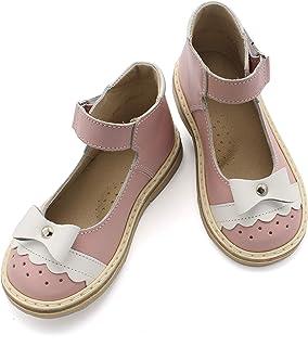 27 EU Amazon size (16.5 cm) NEMAN Genuine Leather Orthopedic Baby Girls Shoes, Lilac White Kids (Infant-Toddler) Sandals
