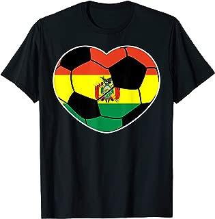 Bolivia Soccer Ball Heart Jersey Bolivian Football T-Shirt