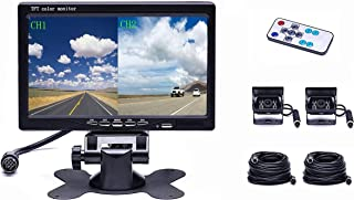$78 » 4 Split Monitor Front View Rear View Camera Auto ,18 IR Night Vision Waterproof Aviation, 4 Pins Connector LCD Monitor ,Ve...