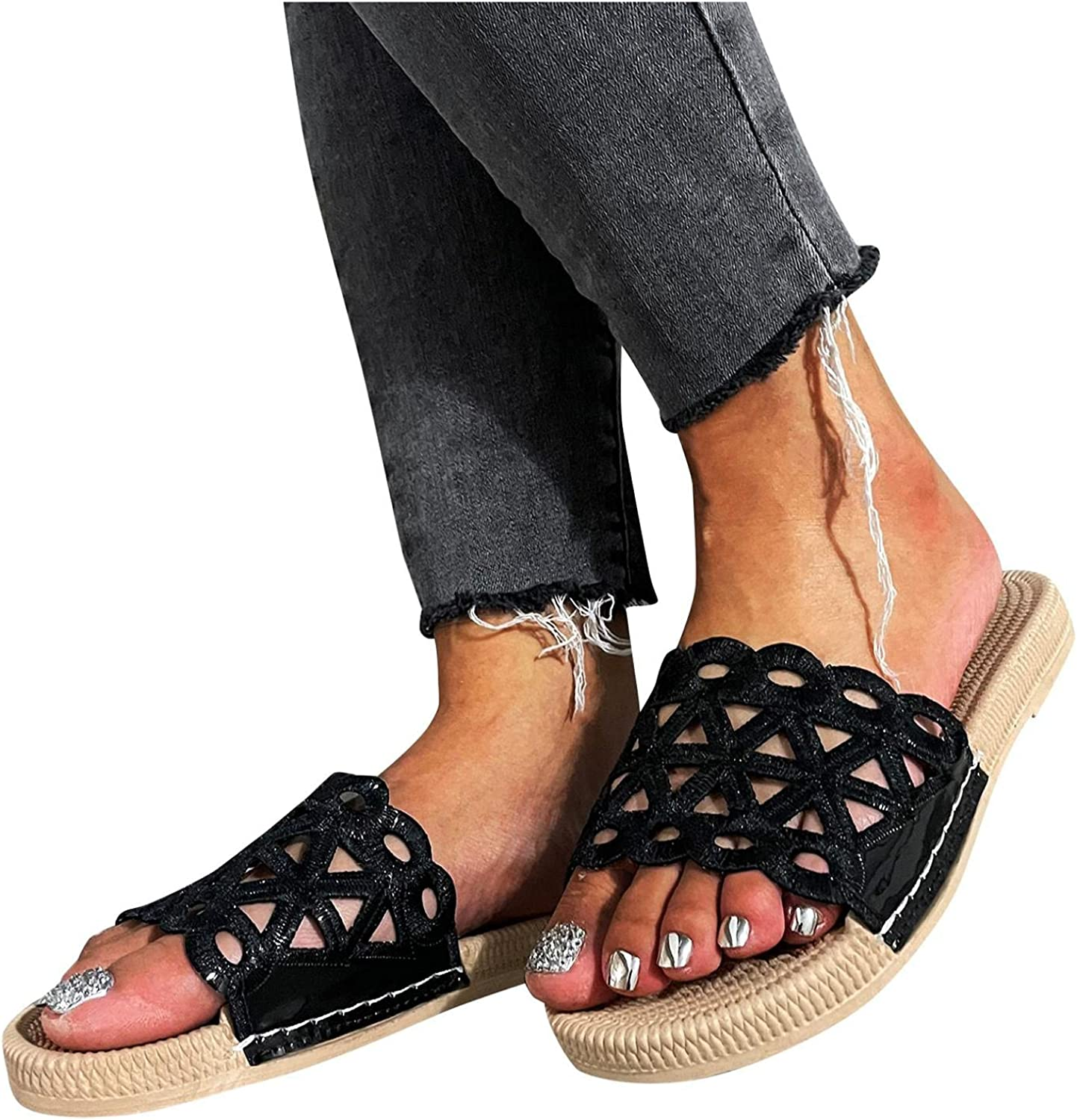 Hunauoo Minneapolis Mall Slippers Manufacturer regenerated product for Women Home Thick-Soled Flat Beach