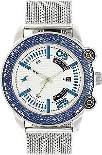 ساعة فاست تراك دنيم انالوج مينا بيضاء للرجال -3188KM01