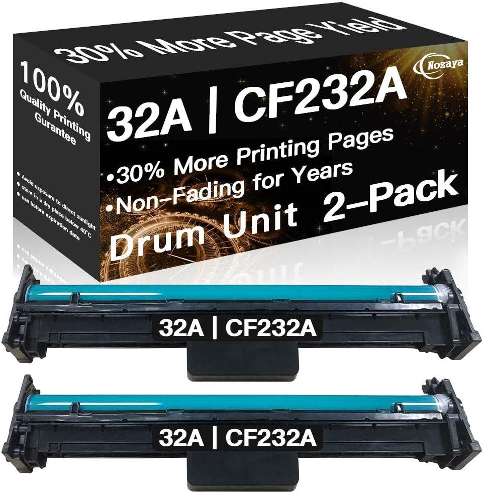 Nozaya Compatible 32A CF232A Imaging Drum Unit for HP M203dw M203dn M230fdw M227fdw M227sdn MFP Printer (2-Pack)