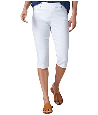 Jag Jeans Bryn Pull-On Denim Pedal Pusher (White) Women