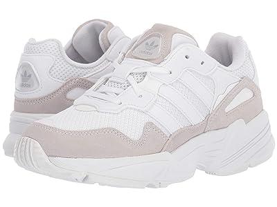 adidas Originals Kids Yung-96 J (Big Kid) (White/Grey) Kids Shoes