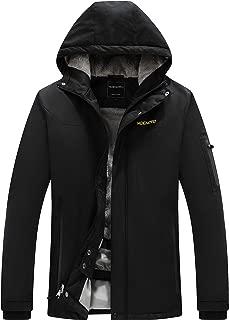 MDENOVO Men's Mountain Ski Jacket Waterproof Snow Fleece Parka Rain Jacket Winter Coat