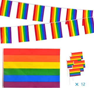 AZ FLAG Bandera Arcoiris 90x60cm Rainbow 60 x 90 cm Bandera Gay