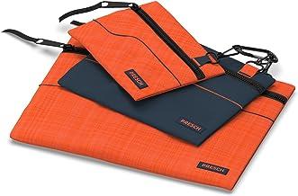 Presch gereedschapstas Leer 3er set - kleine multifunctionele koffers, tas met karabijnhaak en rits voor kleine onderdelen...