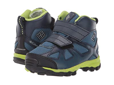 Columbia Kids PeakFreaktm Xcrsn Mid Waterproof (Toddler) (Whale/Fission) Boys Shoes