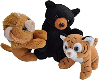 Wild Republic Unlikely Friendships Plush Lion, Tiger and Bear, Based on a True Story, Gift for Kids, Plush Toys