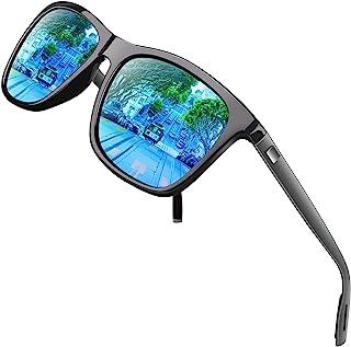 GQUEEN Retro Polarised Sunglasses for Men Women Driving Fishing Ultra Light UV400, GQ33