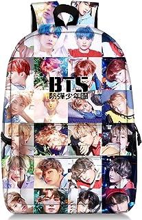 BTS Love Yourself V Suga Jin Jimin Jung Kook Mochila Casual Mochila Mochila para computadora portátil bolsa de escuela