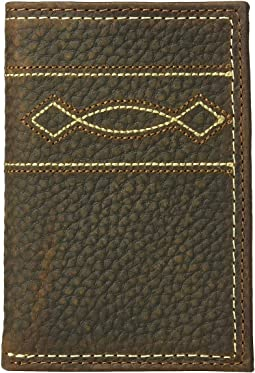 Boot Stitching Trifold Wallet
