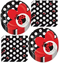Make-a-Face Stickers Game Pin The Eyes and Mask on Large Ladybug Poster with 24Pcs Stickers and Blindfold Ladybug Birthday Party Decoration Favor Supplies PANTIDE Ladybug Party Games for Kids