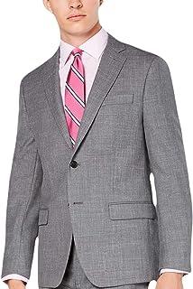 Ralph Lauren Lauren Men's Classic/Regular Fit UltraFlex Stretch Gray Sharkskin Suit Jacket - Grey