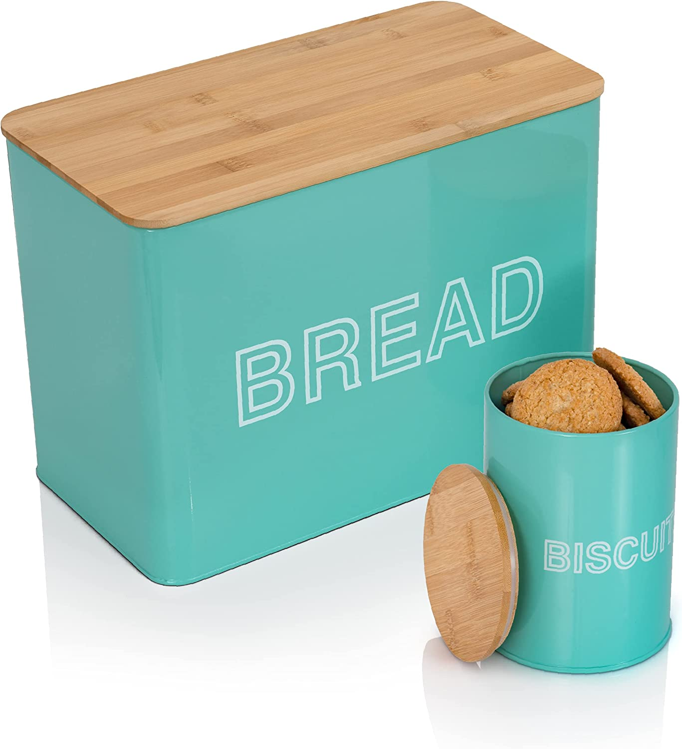VCHAMP Max 86% OFF Metal Bread Storage Container - Sale special price Rustic Large Extra