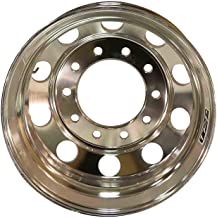 Outside Polish Finished - Steer Position 221103 Aluminum Wheels 22.5 x 11.75 Hub Pilot for dump truck front wheels with 385 tire size