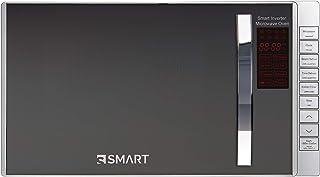 ميكروويف من اس سمارت، 800 وات، 25 لتر، فضي عاكس - SMW252ACG